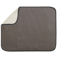 Inter-Design 40131 Large Drying Mat, 18 in L x 16 in W, Polyester/Microfiber Terry, Mocha/Ivory
