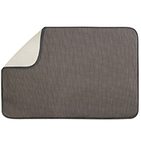 Inter-Design 40231 Extra Large Drying Mat, 24 in L x 18 in W, Polyester/Microfiber Terry, Mocha/Ivory