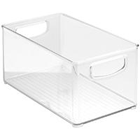 InterDesign 64530 Kitchen Bin, 10 in L x 6 in W x 5 in H, Plastic, Clear