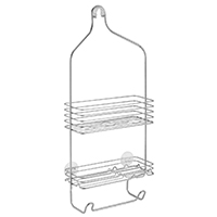 SHOWER CADDY 9IN X 21IN SILVER