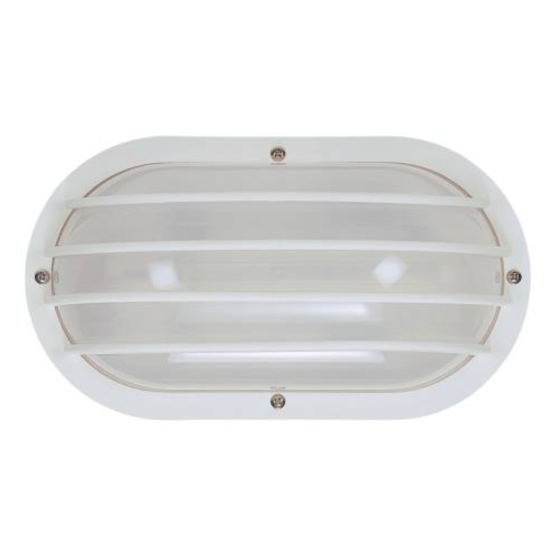 INTERGLOBAL PRODUCTS NAUTICAL-STYLE CEILING / WALL LIGHT FIXTURE, WHITE, 10X5X3-7/8 IN., 1 13-WATT CFL LAMP (INCLUDED)