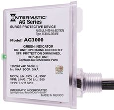 INTERMATIC� AG SERIES WHOLE HOUSE SURGE PROTECTIVE DEVICE, 120/240 VAC, 4X ENCLOSURE, TYPE 1 OR TYPE 2 SPD