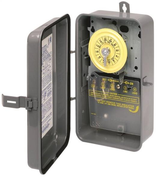 Intermatic T101R Electromechanical Timer, 125 V, 40 A, 1 - 23 hr, 1 - 12 Cycles per Day