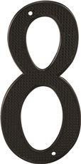 PRIME-LINE BLACK NUMBER 8, 4 IN., 2 PER PACK