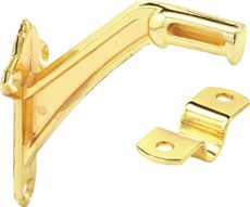 PRIME-LINE HEAVY-DUTY HAND RAIL BRACKET, BRASS, 2 PER PACK