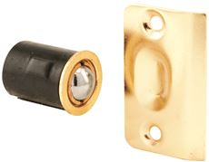 DRIVE IN BALL CATCH WITH STRIKE, LARGE, BRASS-PLATED, 3/4 IN. DIAMETER, 10 PER PACK