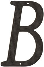 4 IN. BLACK METAL HOUSE LETTER 'B'