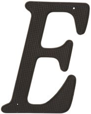 4 IN. BLACK METAL HOUSE LETTER 'E'