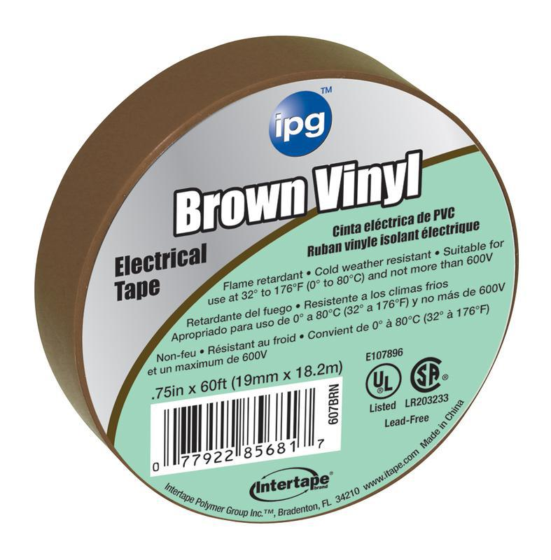 5681 3/4X60 FT. BROWN ELEC TAPE