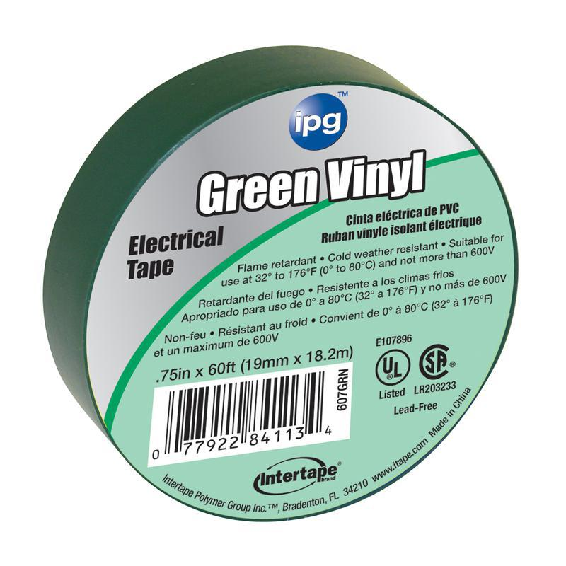 4113 3/4X60 FT. GREEN ELEC TAPE