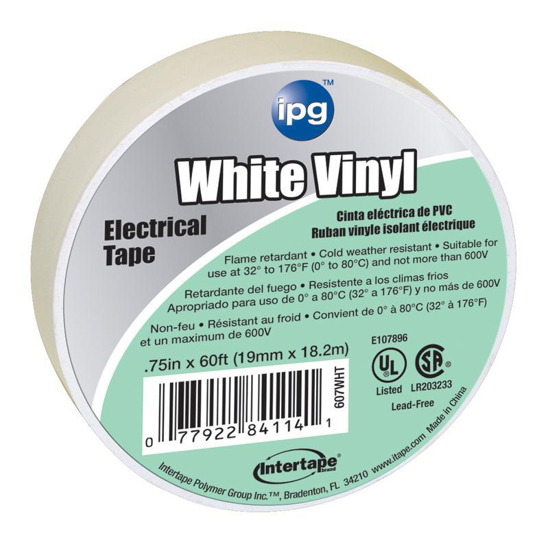 4114 3/4X60 FT. WHITE ELEC TAPE