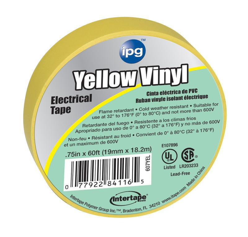 4116 3/4X60 FT. YELLOW ELEC TAPE