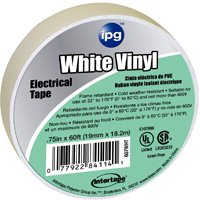 3/4X60FT WHITE VINYL ELEC TAPE