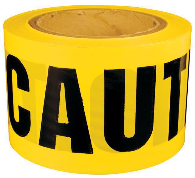 600CC 300 FT. YEL CAUTION TAPE