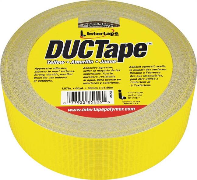 TAPE DUCT YELLOW 1.88INX60YD