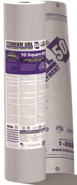 Interwrap Corp Titanium Com-Grade Roof Underlayment Roll, 250 ft L x 48 in W x 30 mil T, Synthetic, Gray