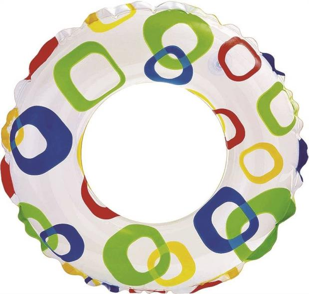 Lively 59230EP Assorted Print Swim Ring, For Use With Ages 3-6 Years Children, 20 in Dia