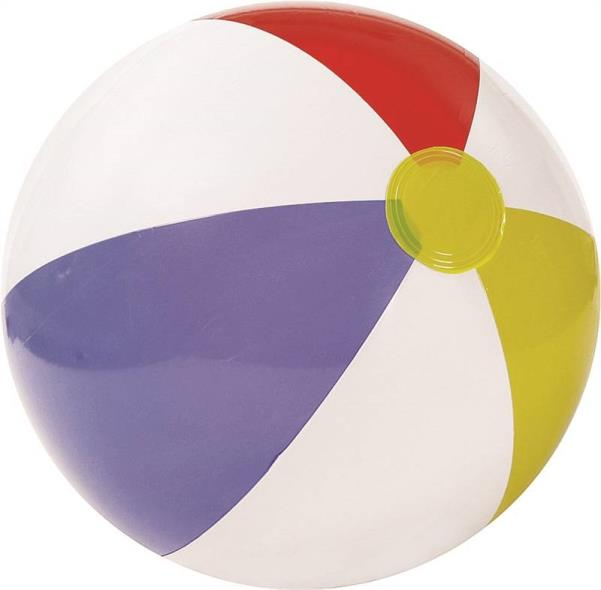 Intex Marketing 59020EP Glossy Beach Ball, Approx. 20 in Dia Deflated X 8 ga T, Vinyl