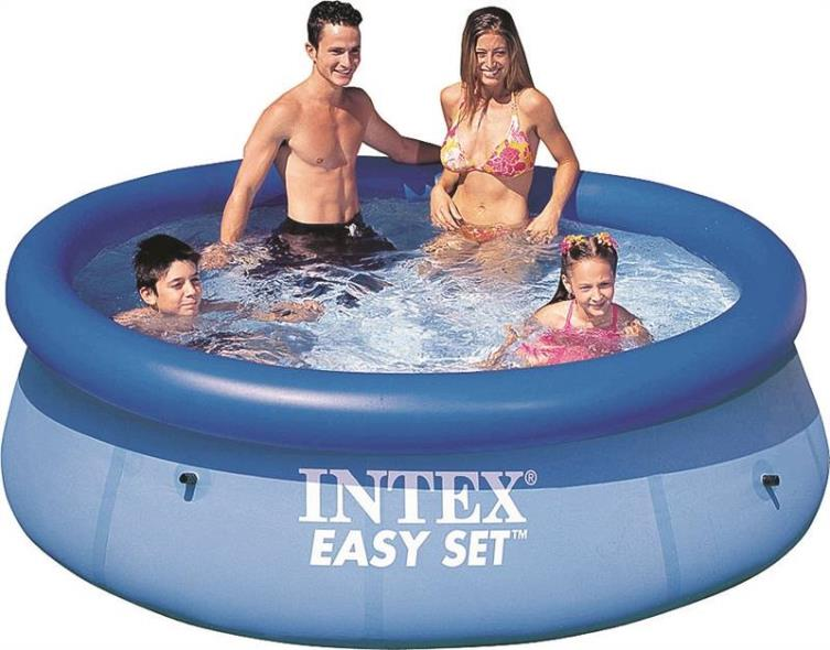 Easy Set 28110EH Swimming Pool, 639 gal Capacity, 8 ft Dia 30 in H, Plastic
