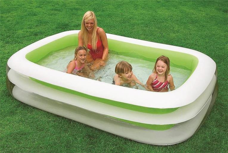 Intex Marketing 56483E Family Pool, 198 gal Capacity, 8.5 ft Dia X 103 in L X 69 in W X 22 in H