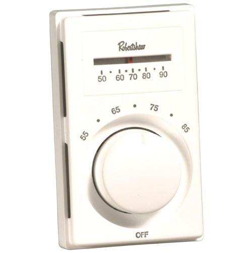 ROBERTSHAW� LINE VOLTAGE THERMOSTAT WITH SINGLE-POLE SINGLE-THROW, HEAT ONLY