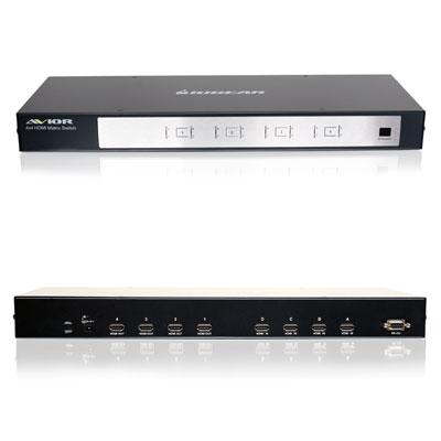 4x4 HD Audio/Video Matrix Switch w/...