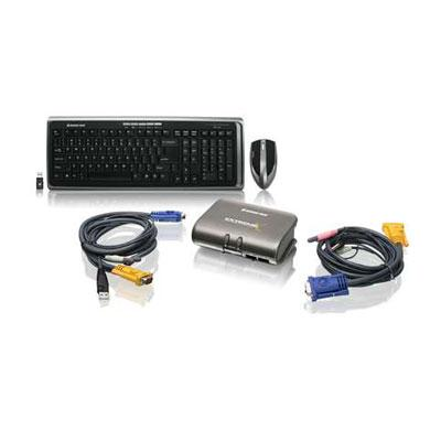 2 port KVMP w Keyboard Mouse