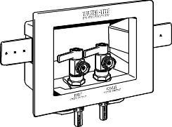 DU ALL WASHER OUTLET BOX WITH VALVES 1/2 IN. FGG CPVC