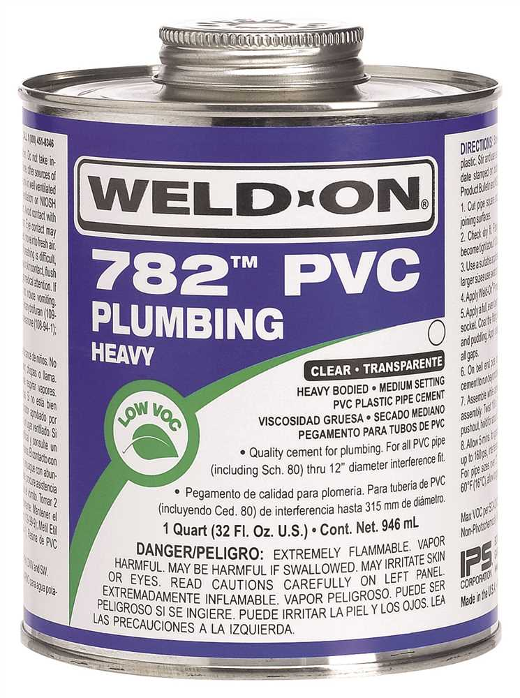 WELD ON� 782� HEAVY-BODIED PVC CEMENT, CLEAR, QUART