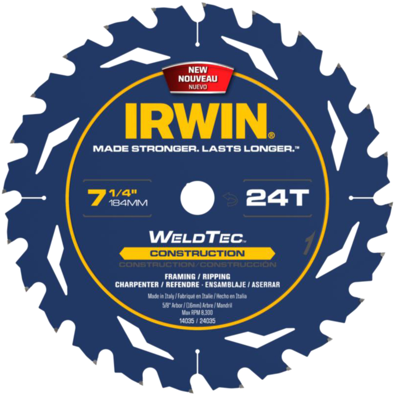 24035 7-1/4 IN. 24T WELDTEC BLADE