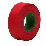 65601 150 FT. FLSCNT RED FLG TAPE