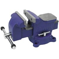 Irwin 226304ZR Heavy Duty Workshop Vise, 4-1/4 in X 4 in Jaw, Steel, 1/4 - 1/2 in