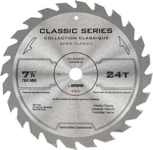 "7-1/4"" X 24T  Circular SAW BLADE"