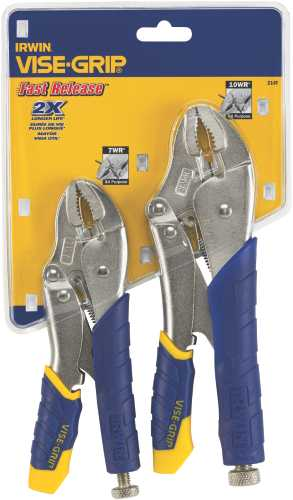 IRWIN FAST RELEASE� LOCKING PLIERS SET 2 PIECE (10WR�, 7WR�)