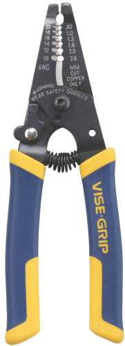IRWIN WIRE STRIPPER/CUTTER WITH PROTOUCH GRIPS 6""