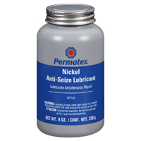 Permatex 77124 Nickel Anti Seize Lube, 8 oz, Brush-Top Bottle, Gray, Paste