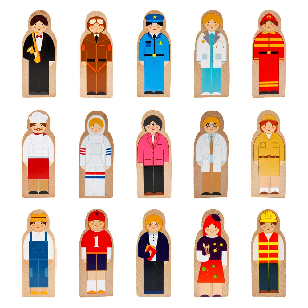 Little Professionals Wooden Character Set