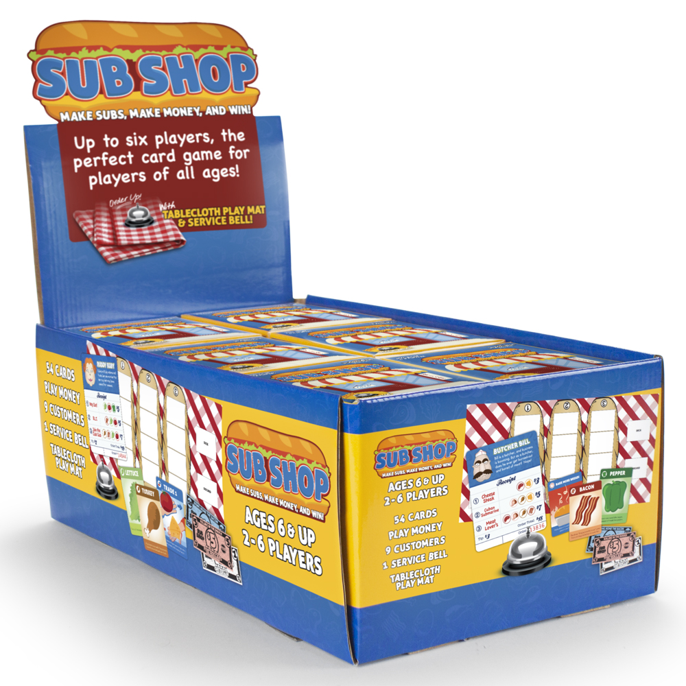 Sub Shop Case of 12 with Pop-Up Retail Display