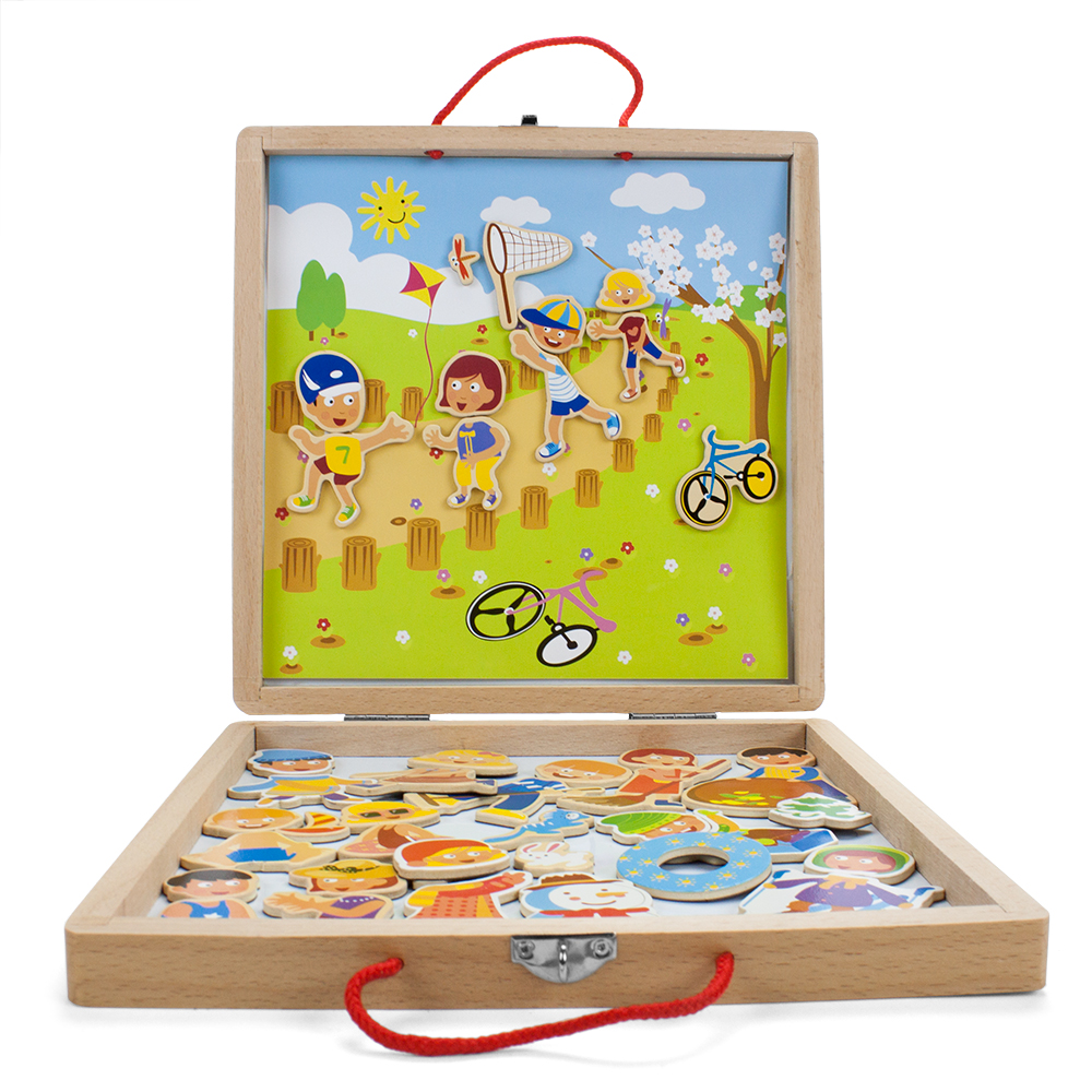 Wooden Wonders Four Seasons Magnetic Playset