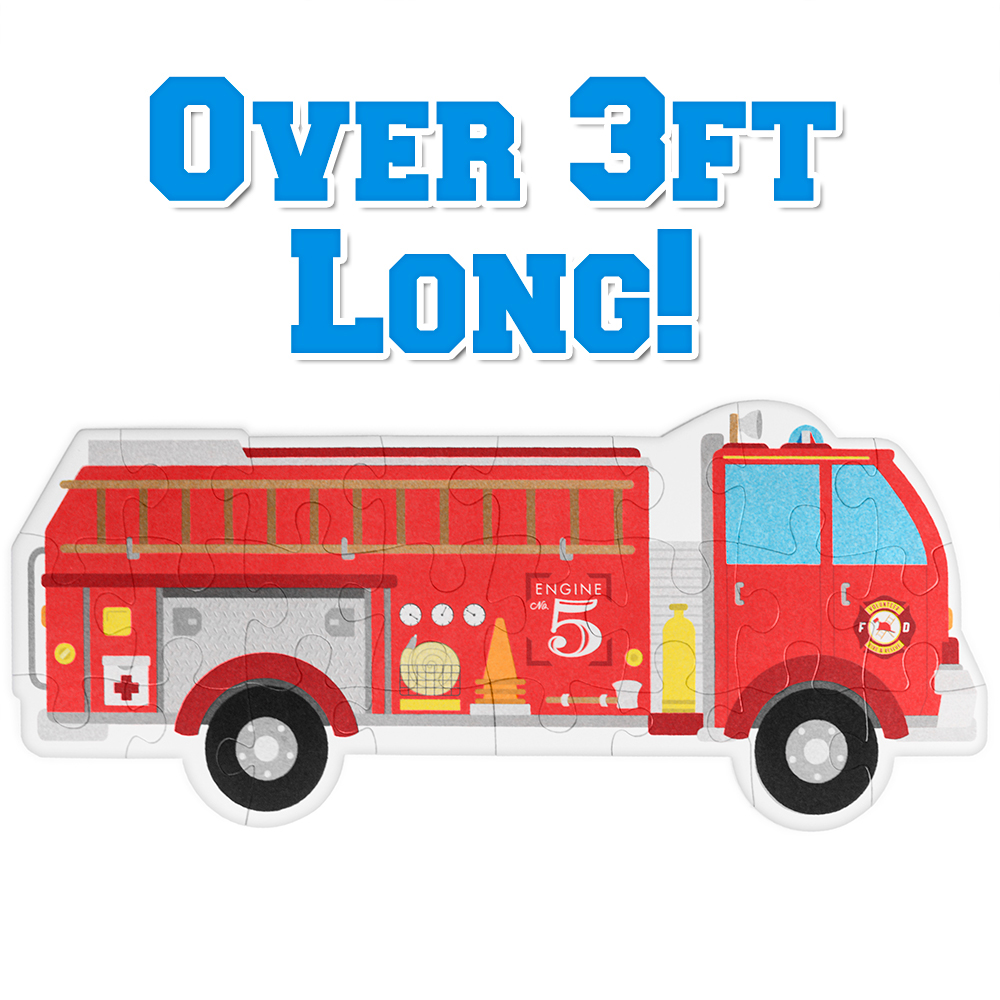 24 Piece Jumbo Fire Engine Floor Puzzle
