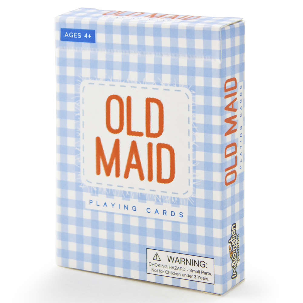 Old Maid Illustrated Card Game