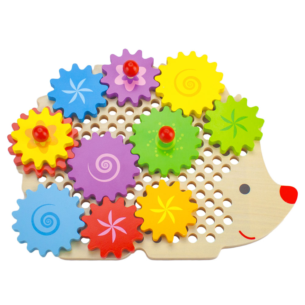 Wooden Wonders Gizmo the Hedgecog Gear Puzzle