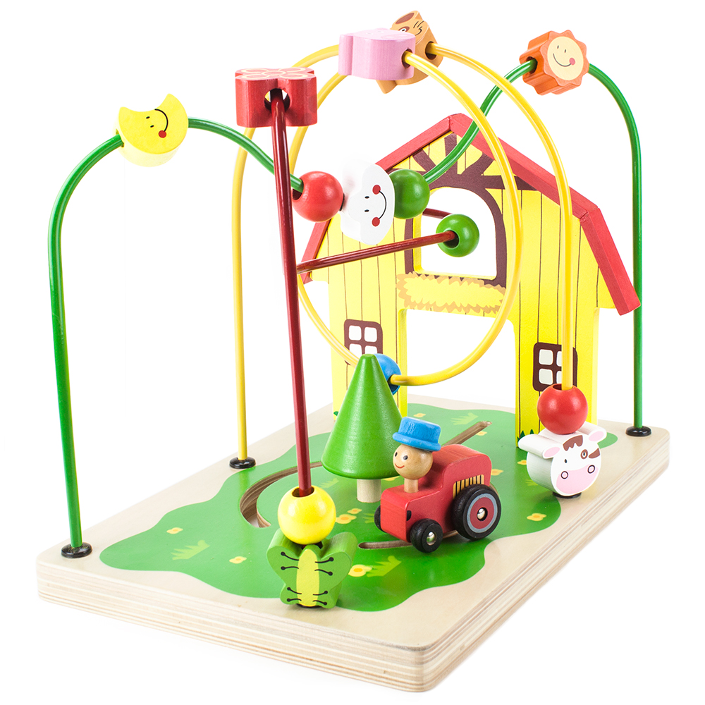 Wooden Wonders Busy Barnyard Bead Maze