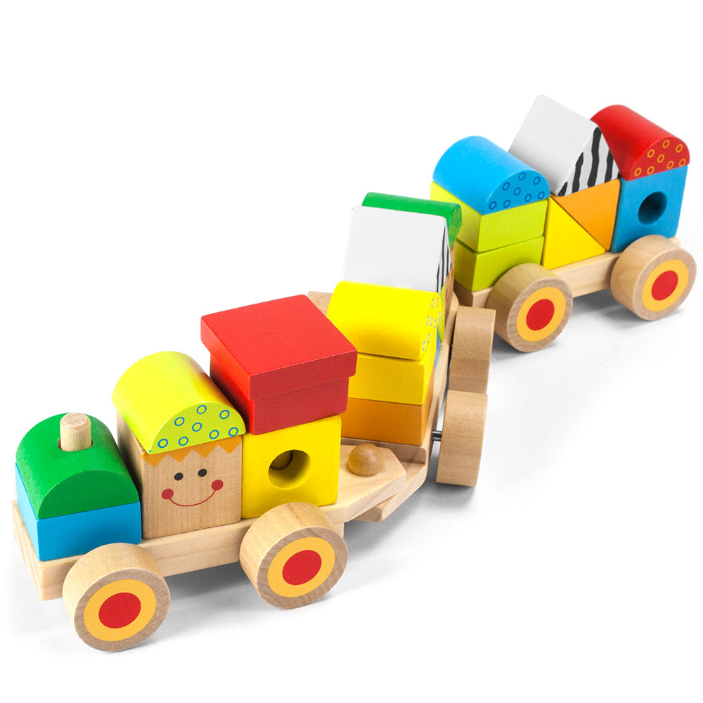 Wooden Wonders Bold & Brilliant Stacking Train