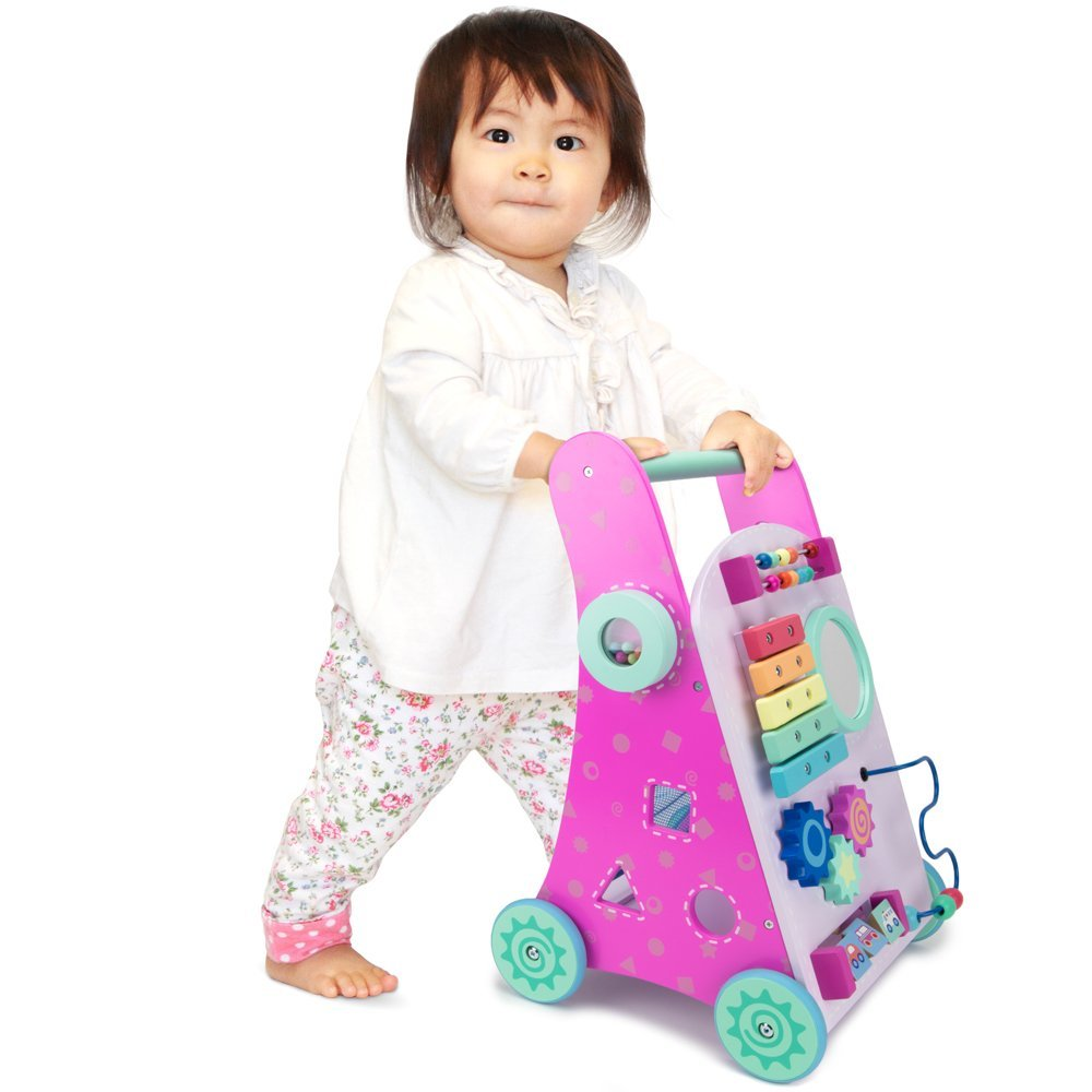 Pink Push-n-Play Walker