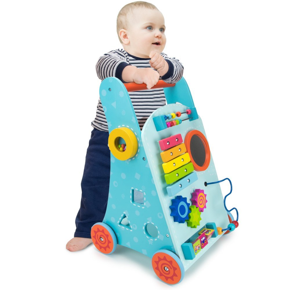 Blue Push N Play Walker