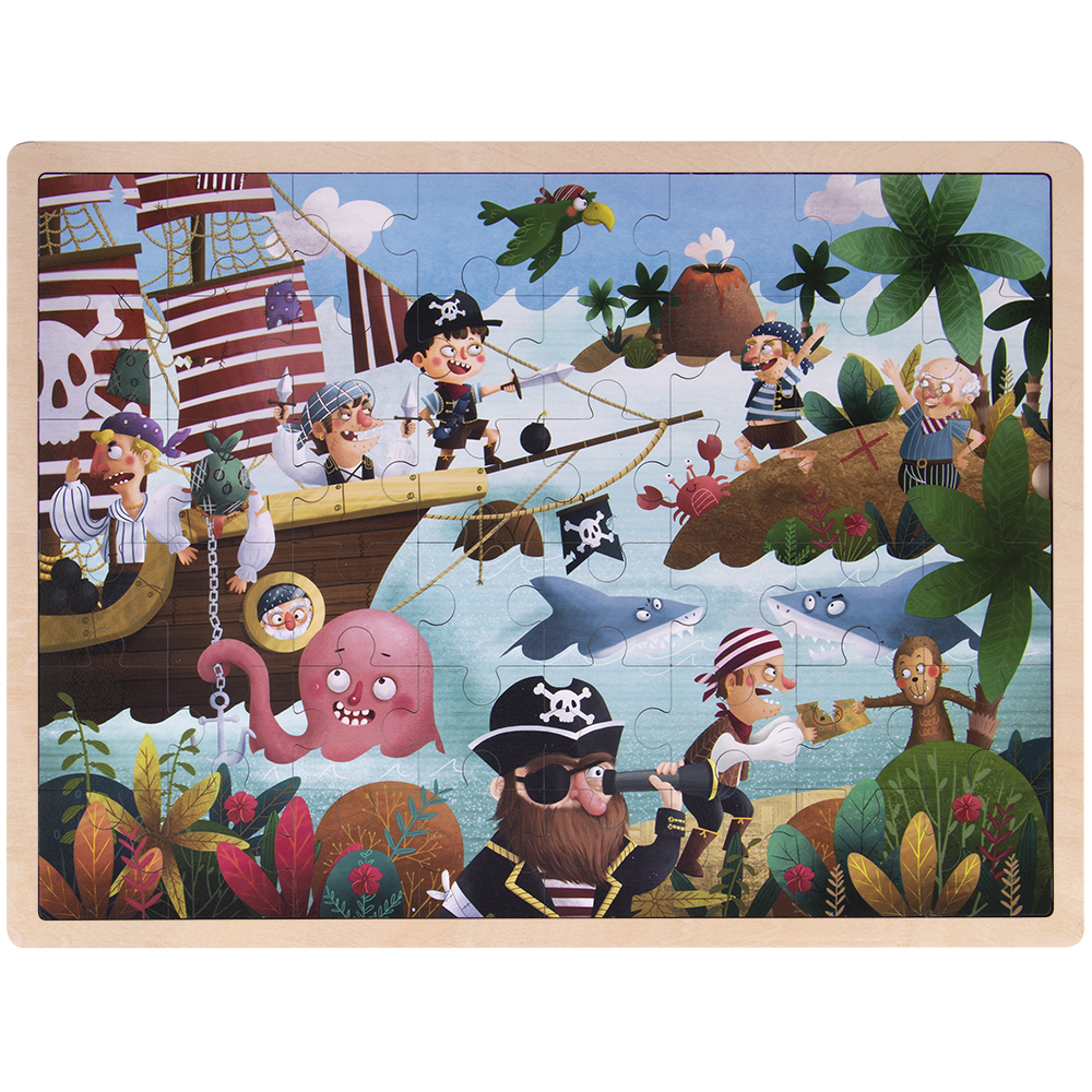 Ollie and Mr. Noodle: Playful Pirate Ship Jigsaw Puzzle