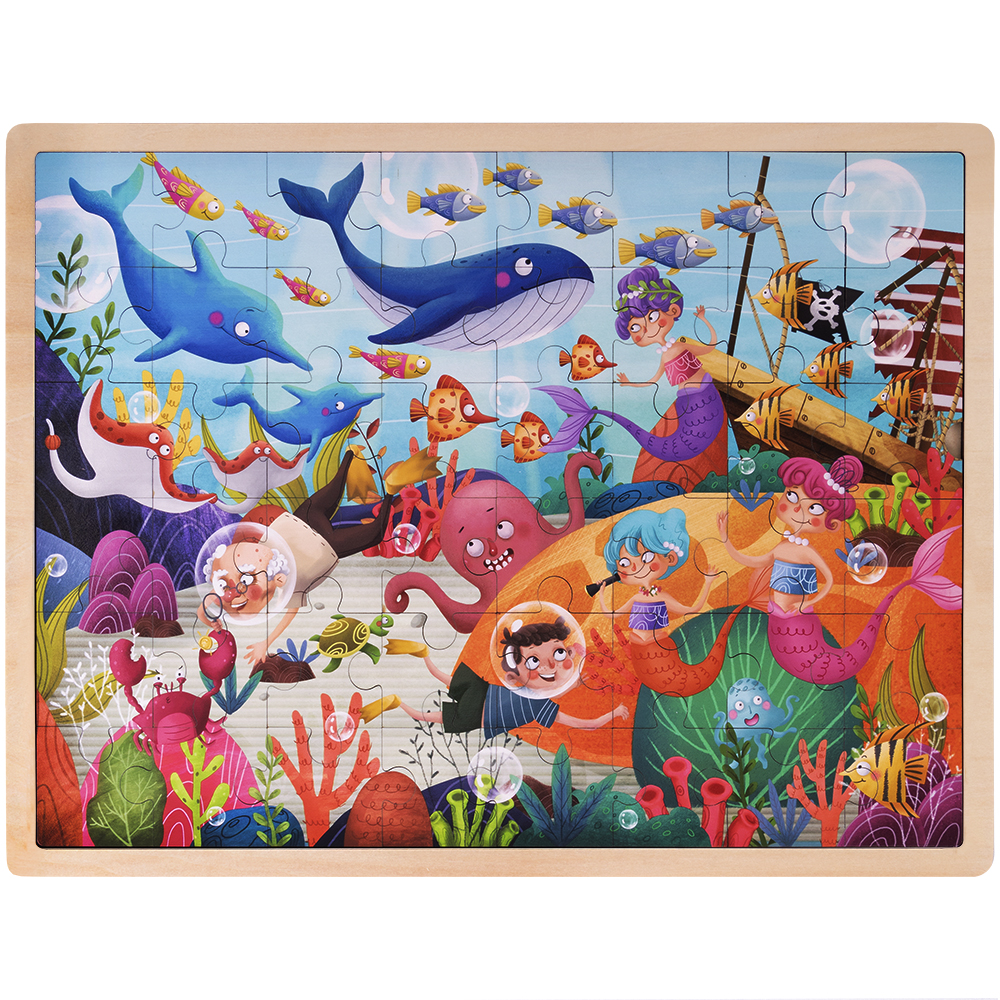 Ollie and Mr. Noodle: Deep Sea Diving Jigsaw Puzzle