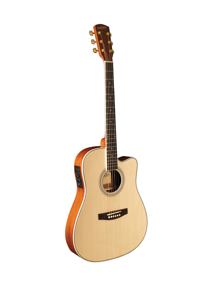 Indiana Thin Body Acoustic / Electric Guitar Natural