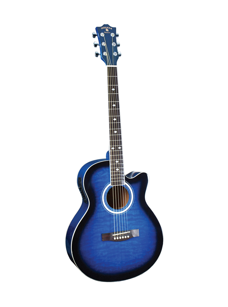 Indiana Madison Acoustic/Electric Guitar Blue